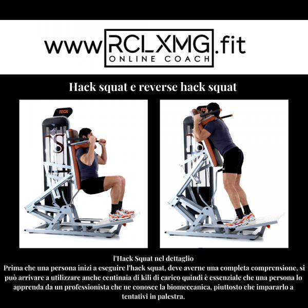 Hack squat machine esercizio gambe allenamento natural bodybuilding