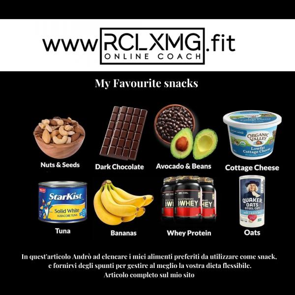 Snack healthy sani tonno frutti whey fiocchi d'avena fiocchi di latte cioccolato fondente avocado noci