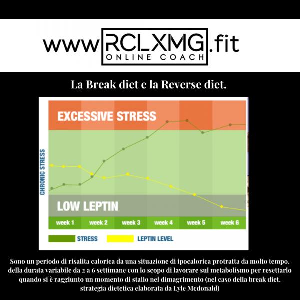 Break diet reverse diet metabolismo rallentato dimagrimento grasso problemi leptina stress