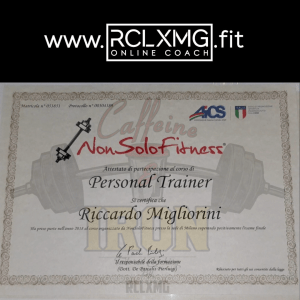 Coni Aics Certified Personal trainer